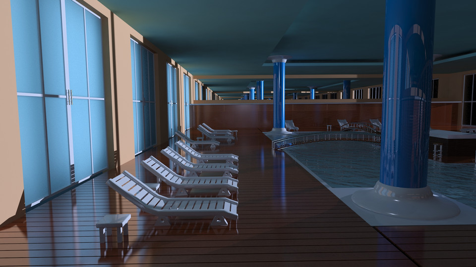 Swimming pool 3ds max dxf autodesk 3ds max autocad 3d cad model grabcad for Swimming pool 3d model free download