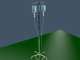 血清瓶和支架三维模型