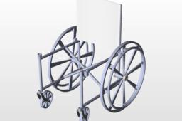 Wheelchair CAD model