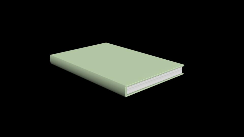 Simple Book 3d Cad Model Grabcad