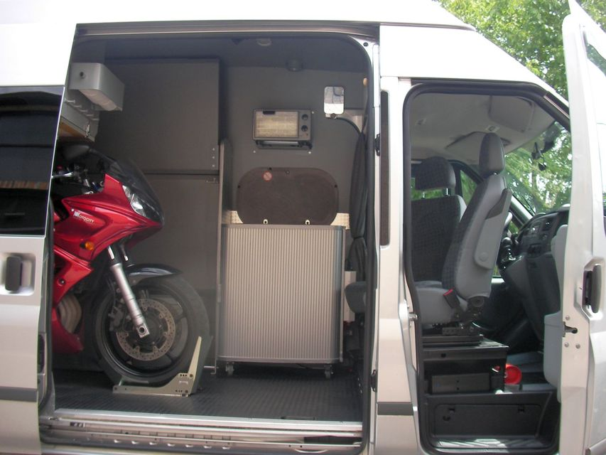 Interior Of My Ford Transit Stealth Cargo Camper Van