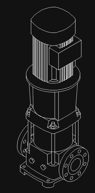 vertical pump | 3D CAD Model Library | GrabCAD