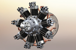 9 Cylinder Radial Engine by Roland Schwarz
