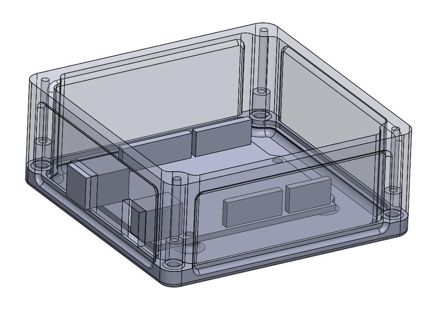 Arduino uno r case tower bone industries d cad model