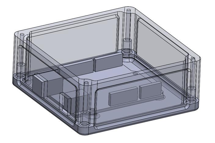 Arduino uno r case tower bone industries stl d cad