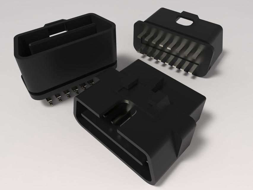 OBD II CONNECTORS | 3D CAD Model Library | GrabCAD