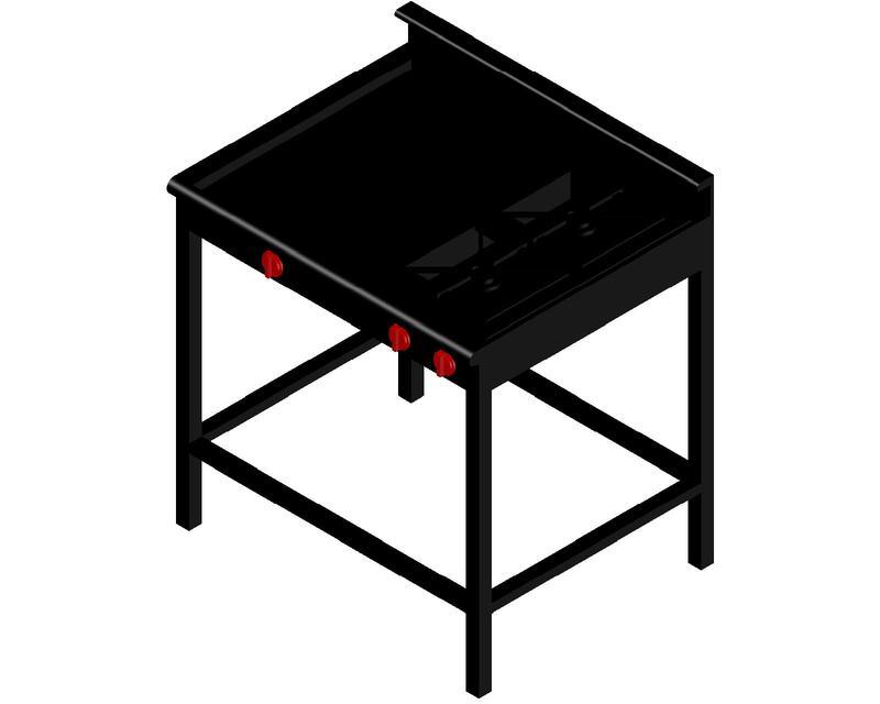 Plancha para cocinar autocad 3d cad model grabcad - Planchas para cocinar a gas ...