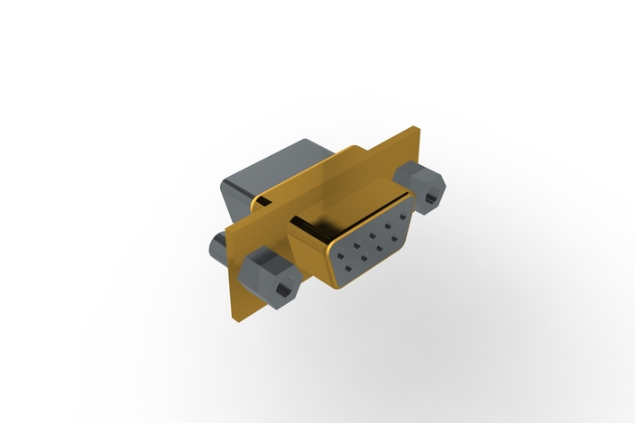 Receptacle D-Sub 9 Pin Assembly