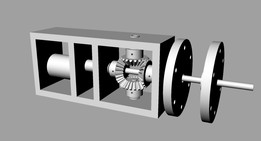 Contra-rotating motor and gearbox