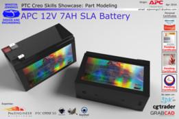 PTC Creo Skills Showcase: APC 12V 7AH SLA Battery