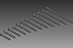 DIN 94 Split Pins (Cotter Pins). Nom. Diameter 8mm