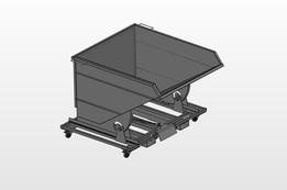 Enwar auto locking forklift tip container