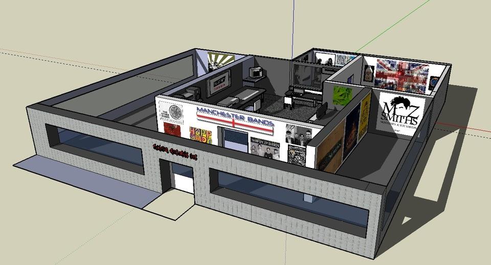 Recording Studio Design Sketchup 3d Cad Model Grabcad