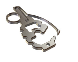 Grenade F-1 multitool titanium carabiner keychain edc every day carry tactical bottle opener