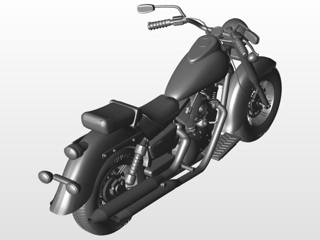 Honda Shadow VLX | 3D CAD Model Library | GrabCAD