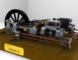 Twin Steam Engines in Factory Layout