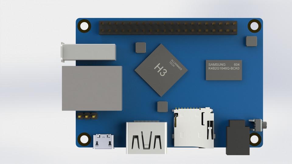 Orange Pi One | 3D CAD Model Library | GrabCAD