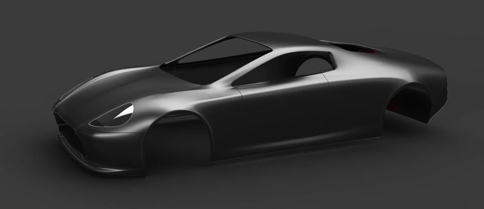 Sports Car Body SOLIDWORKSSTEP IGESSTL D CAD Model GrabCAD - Model sports cars