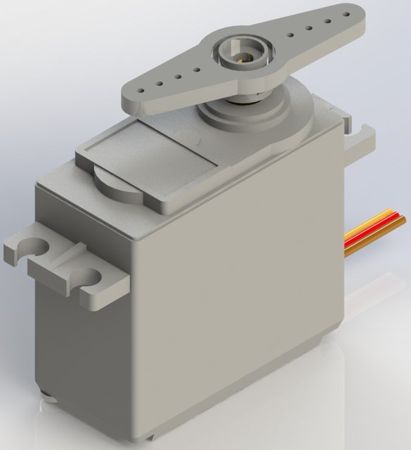 Hobby Servo Motors for RC cars, planes, etc    | 3D CAD