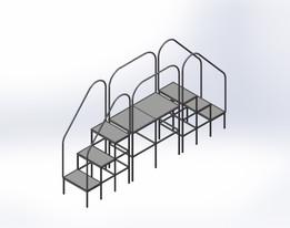 Mini plataforma com escadas