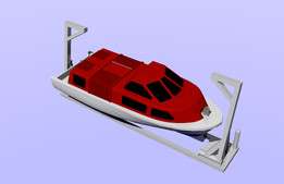 52 persons lifeboat with davits