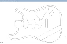 dxf file of 60s Fender Strat body