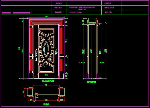 Solid door autocad autocad 3d cad model grabcad for Door design autocad
