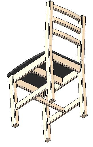Swell Diy Wooden Chair 3D Cad Model Library Grabcad Download Free Architecture Designs Scobabritishbridgeorg