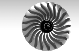 high bypass turbofan front fan (10:1 ratio)