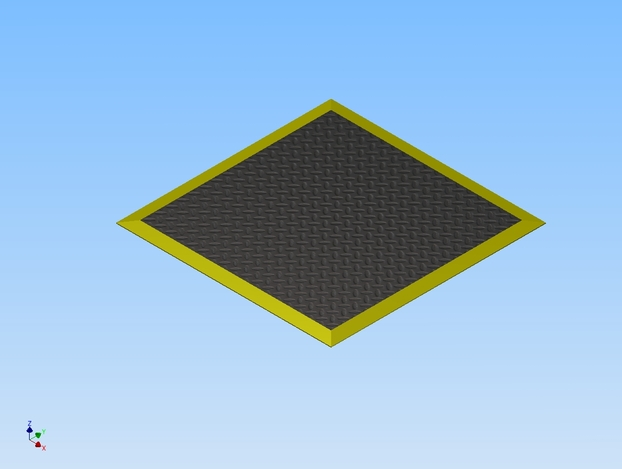 MAT, ANTI-FATIGUE, 3' X 3' X .156, POLYURETHANE FOAM/PVC