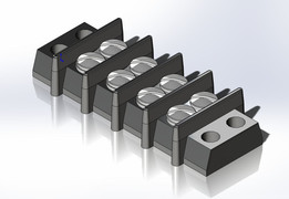 "CINCH Series 140 3/8"" Centers #5 Screw Terminal Blocks"