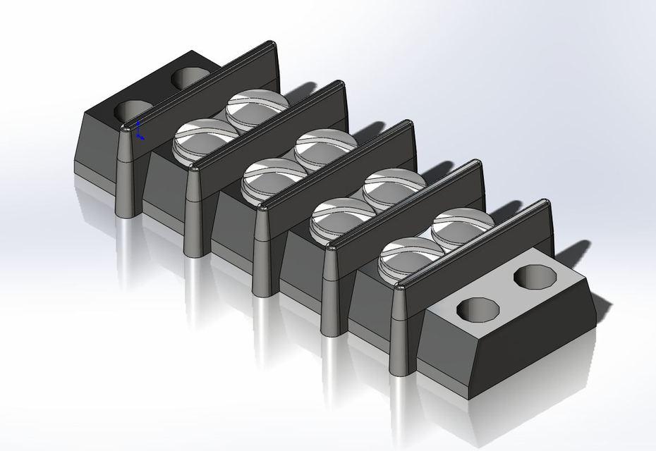 Terminal strip solidworks