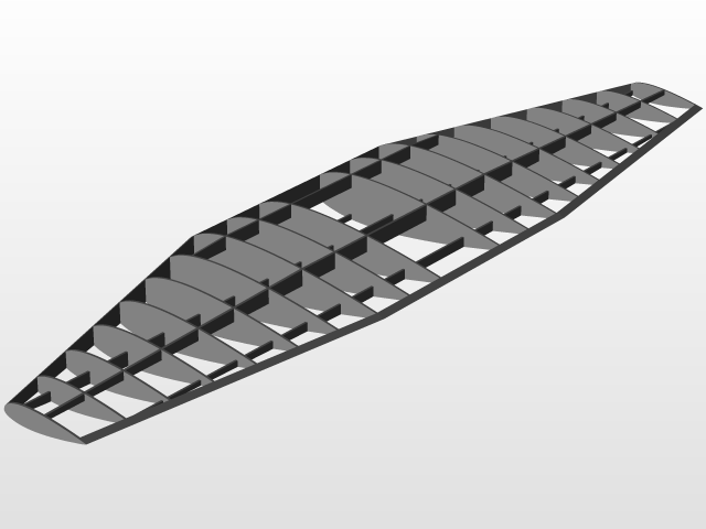 Wooden Wing Airframe | 3D CAD Model Library | GrabCAD