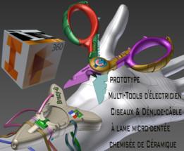 Electrician's Scissors Multitool Ciseaux d'électricien brazy-u braz prototype