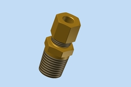1/4'' Tube Compression Fitting w/ 1/4'' NPT Male