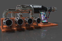 IPhone station with 6 speakers