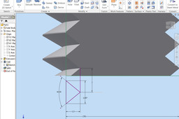 Of thread dimensioning ISO 20mm
