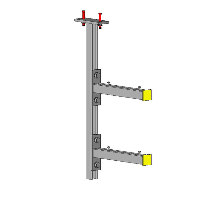 Single Strut Cable Tray Ceiling Support(Fully Parametric
