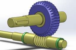 Worm gear and pinion assembly