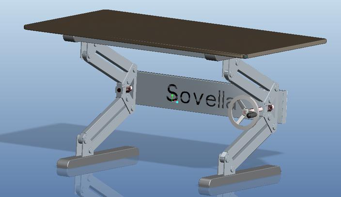 Height Adjustable Table STEP IGES 3D CAD Model GrabCAD