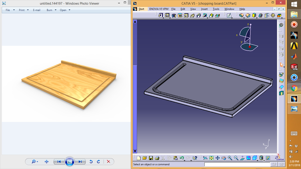 ikea Lamplig chopping board   3D CAD Model Library   GrabCAD