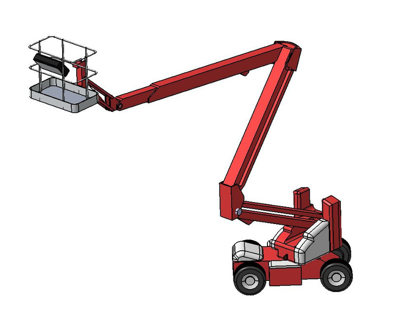 Cherry picker boom lift Genie | 3D CAD Model Library | GrabCAD
