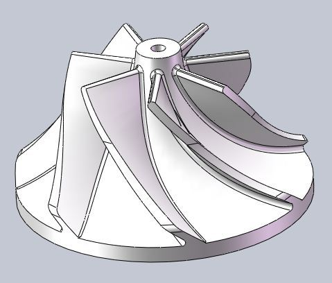 centrifugal impeller with 7 blades