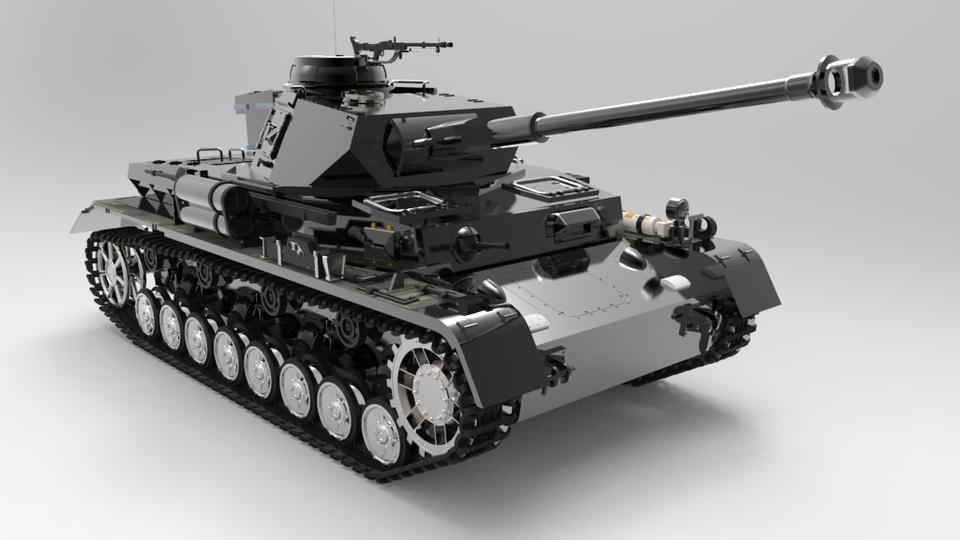 Panzerkampfwagen IV - Scale 1-35 - German Military Tank WW2