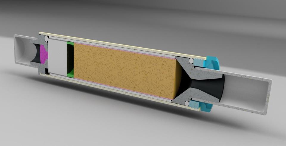 AeroTech Model Rocket Motor - RMS 18/20 | 3D CAD Model