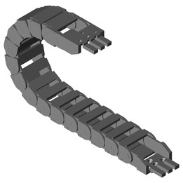 """""""zipper"""" e-chain – for fast adding and removal of cables"""