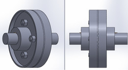 protected type flanged coupling assembly