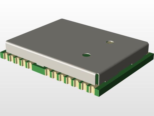 NEO-M8U U-blox Module | 3D CAD Model Library | GrabCAD