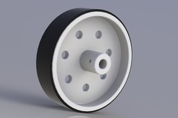 2.6 in Plastic Wheel