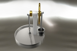 Gamma Stirling Engine